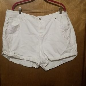 Lane bryant white Jean shorts